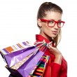 Beautiful shopping woman — Stock Photo #32134707
