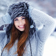 Beautiful girl in winter park — Stock Photo #32134773