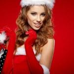 Christmas shopping woman — Stock Photo