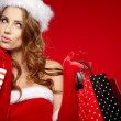 Christmas shopping woman — Stock Photo