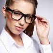 Cute young business woman with glasses  — Lizenzfreies Foto