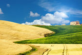 Typical Tuscany landscape, Italy — Stock fotografie