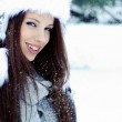 Woman in winter park — Stock Photo #33751395