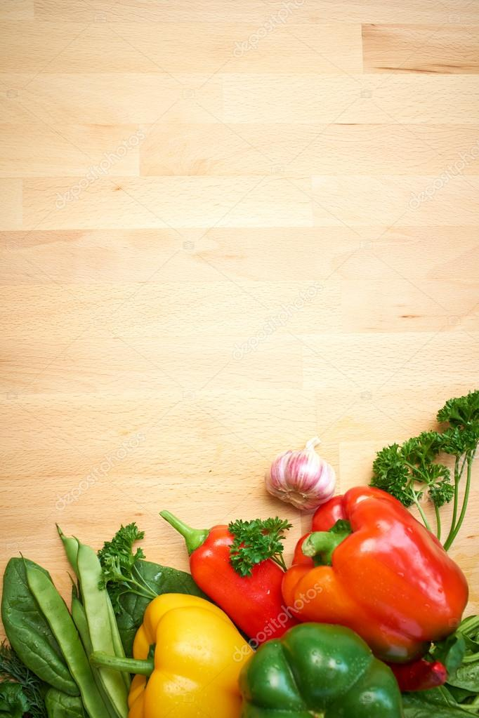 Vegetables on a wood background — Stock Photo © zoomteam ...