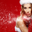 Foto de Stock  : Christmas woman