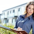 Attractive Real Estate Agent Woman  — Stockfoto