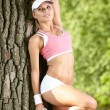 Young attractive fitness woman — Stok fotoğraf