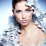 Winter queen woman — Stock Photo #34587385