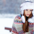 Young woman winter portrait. — Stock Photo