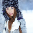 Stock Photo: Attractive young womin wintertime outdoor