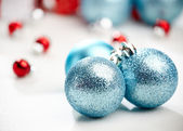 Christmas decoration, blue ball — ストック写真