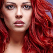 Red Hair Girl — Stock Photo