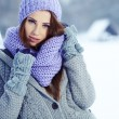 Young woman in winter — Stock Photo #36240257