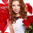 Stock Photo: Saint Valentine day woman