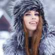 Woman in wintertime outdoor — Photo