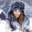 Stock Photo: Womin wintertime outdoor