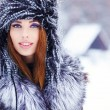 Attractive woman in wintertime — Foto de Stock