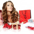 Sexy girl santa claus — Stock Photo #36554373