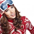 Woman with ski goggles — Stock Photo #36811939