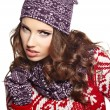 Beautiful woman in warm clothing — Stock Photo