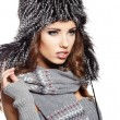 Beautiful woman in warm clothing — Foto de Stock