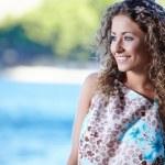 Young girl on Croatia coast — Stock Photo