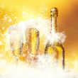 Champagne glasses New Year — Stock Photo