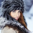 Stock Photo: Attractive womin wintertime