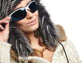 Mujer en ropa de invierno — Foto de Stock