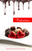 Valentine's day delicious pralines — Stock Photo
