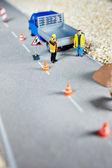Road renovation in progress — Stock Photo