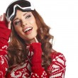 Woman with ski goggles — Stock Photo #38690483