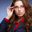 Stock Photo: Business woman with glasses