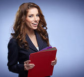 Business woman holding a folder — Stock Photo