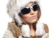 Winter Woman — Stockfoto