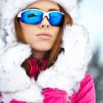 Woman wearing ski goggles — Stock Photo #40500667
