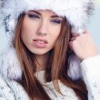 Stock Photo: Young womin wintertime