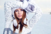 Young woman in wintertime — Stock Photo