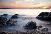 Croatia, adriatic sea sunset — 图库照片