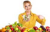 健康食品的女人 — 图库照片