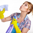 Woman cleaning — Stock Photo