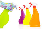 Colorful cleaning products — 图库照片