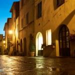Illuminated Street of Pienza — Stock Photo #48094123