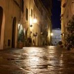 Illuminated Street of Pienza — Stock Photo #48094205
