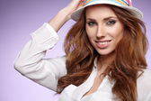 Amazing woman in hat — Stock Photo