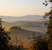 Typical Tuscany landscape — Стоковое фото