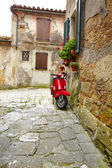 Street of medieval village — Stock Photo