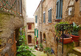 Medieval street in Italian town — Stock Photo