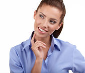 Smiling corporate woman posing — Stockfoto