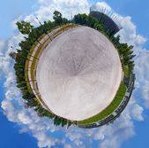 Little planet - spherical panoramic view — Stock Photo